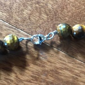 on line Jewelry - Tigers eye gem stone NWOT faceted looks sparkly